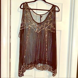 BLINGED OUT SEQUIN BLOUSE